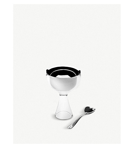 ALESSI Big love bowl and spoon set (Ghiaccio