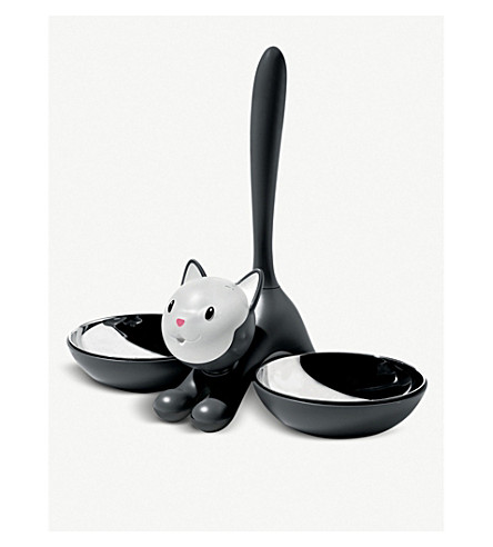 ALESSI Tigrito cat bowl (Black