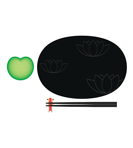 ALESSI Lily Pond sushi set