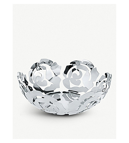 ALESSI La Rosa large fruit bowl