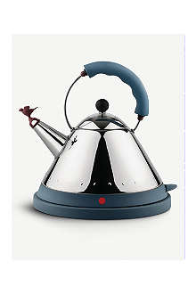 ALESSI Cordless electric kettle blue