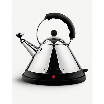 ALESSI Cordless electric kettle black