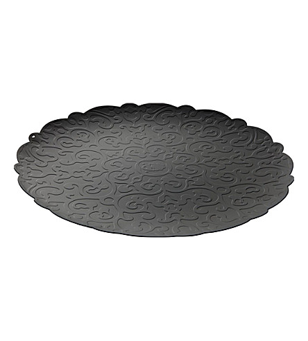 ALESSI Dressed round tray 35cm (Black