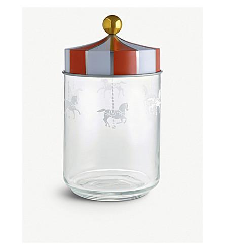 ALESSI Circus glass jar 19cm (Nocolor