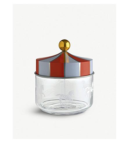 ALESSI Circus glass jar 13cm (Nocolor