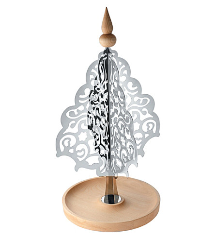 ALESSI Table top stainless steel and wood christmas tree (Nocolor