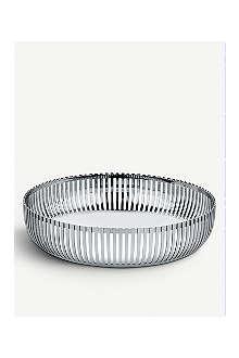 ALESSI Round stainless steel basket 20cm