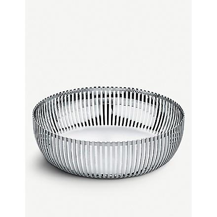 ALESSI Round stainless steel basket 23cm