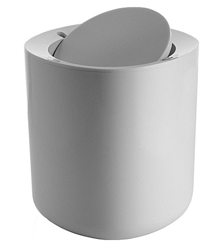 ALESSI Birillo bathroom waste bin (White