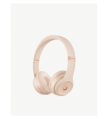 BEATS BY DRE Solo 3 wireless on-ear headphones (Matte+gold