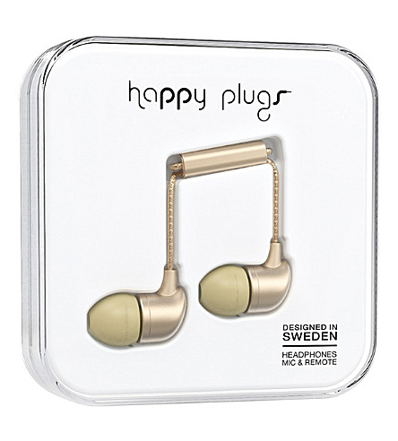 HAPPY PLUGS In-Ear Deluxe Edition headphones (Champagne