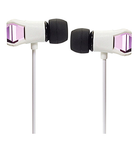 MAROO Gem Collection White Rose in-ear headphones
