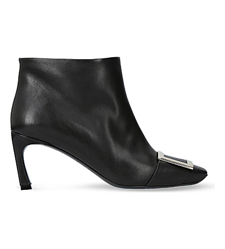 ROGER VIVIER Trompette leather ankle boots (Black