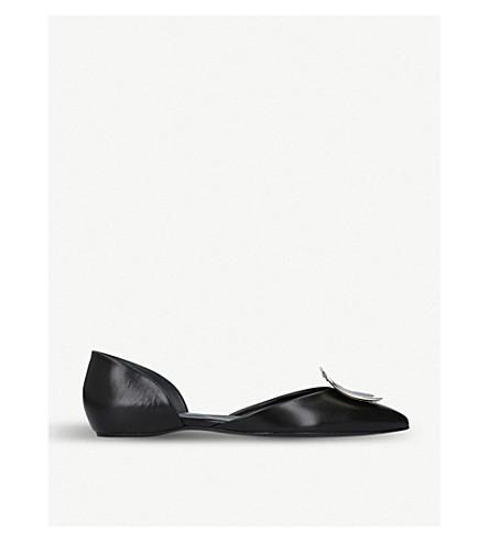 ROGER VIVIER D'Orsay Choc leather ballerina flats (Black