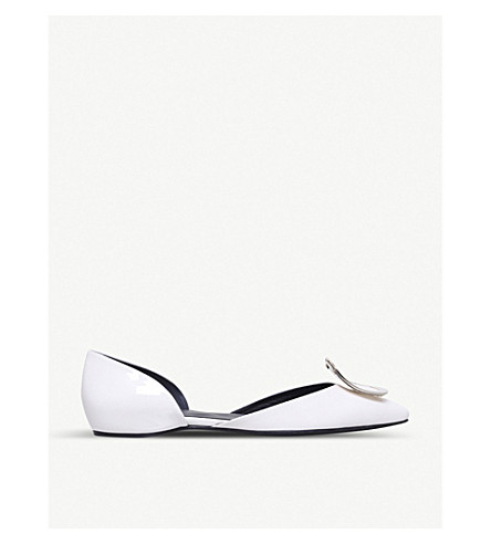ROGER VIVIER D'Orsay Choc leather ballerina flats (Winter+wht