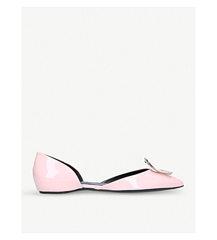 ROGER VIVIER Dorsay Sexy Choc Chip patent leather flats (Pink