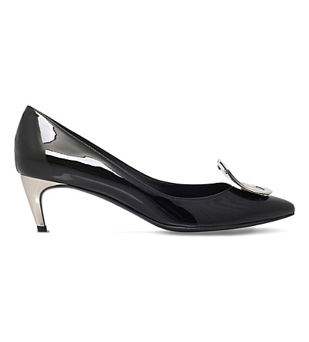 ROGER VIVIER Sexy choc patent leather courts (Black