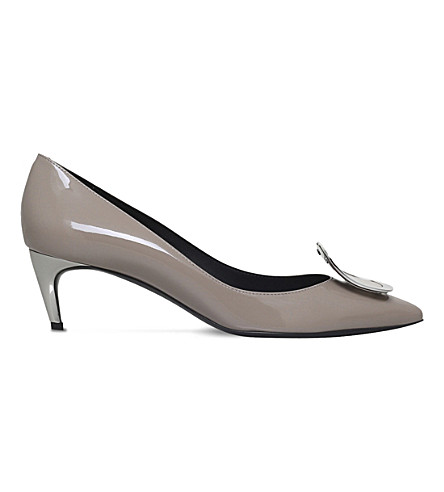 ROGER VIVIER Sexy Choc patent leather courts (Taupe