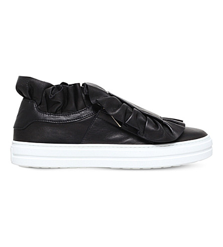 ROGER VIVIER Sneaky Viv frilly leather trainers