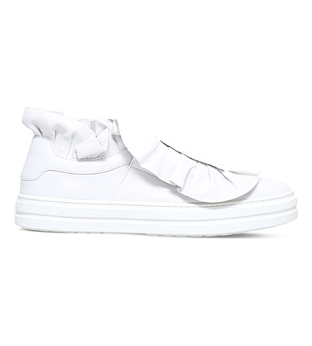ROGER VIVIER Frilly leather trainers