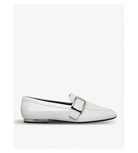 ROGER VIVIER Buckled leather loafers (White/oth
