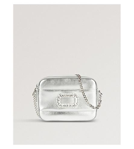 ROGER VIVIER Photocall leather shoulder bag (Silver