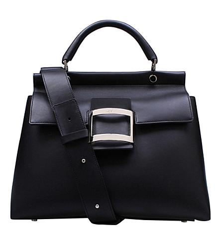 ROGER VIVIER Viv' Cabas leather tote (Black