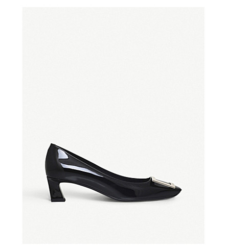 ROGER VIVIER Belle Vivier leather high heels (Black