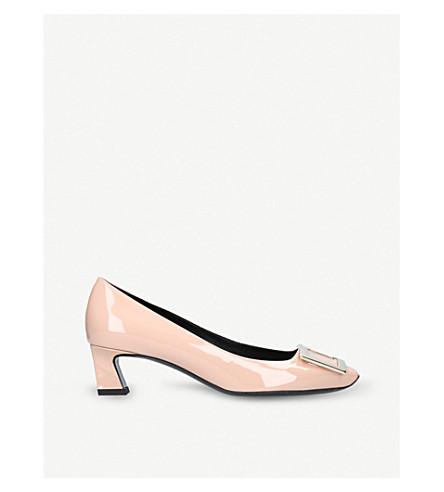 ROGER VIVIER Belle Vivier patent-leather court shoes (Nude