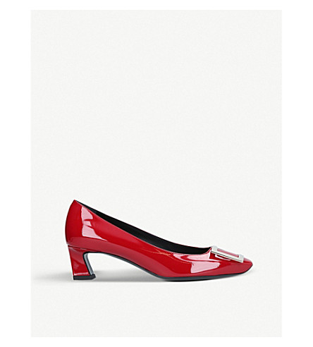 ROGER VIVIER Trompette patent leather pumps (Red