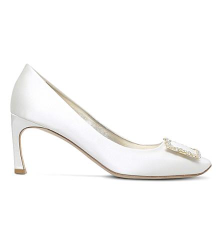 ROGER VIVIER Belle De Nuit satin court shoes (Winter+wht