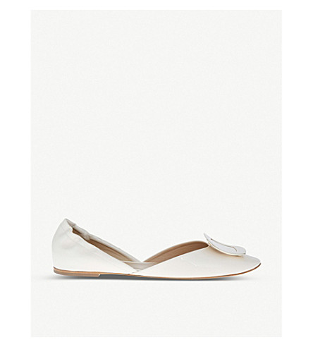 ROGER VIVIER Chips leather ballerina flats (Winter+wht