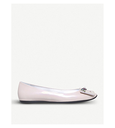 ROGER VIVIER Gommette Jewels patent-leather ballerina flats (Nude