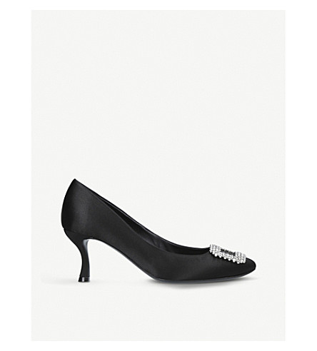 ROGER VIVIER Vertigo buckle satin courts (Black