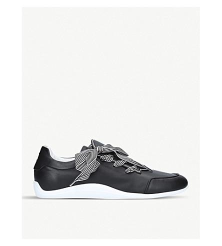 ROGER VIVIER Sporty Viv Etiquette leather trainers (Black