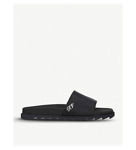 ROGER VIVIER Strass satin sliders (Black