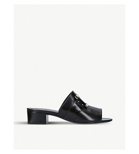ROGER VIVIER Rabat buckle-detail leather mules (Black