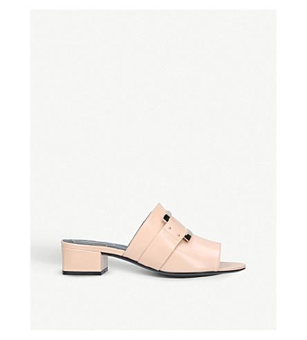 ROGER VIVIER Rabat buckle-detail leather mules (Pale+pink