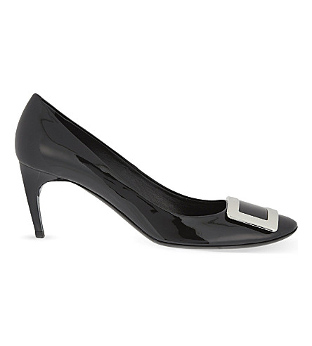 ROGER VIVIER Belle de Nuit T65 patent-leather courts (Black