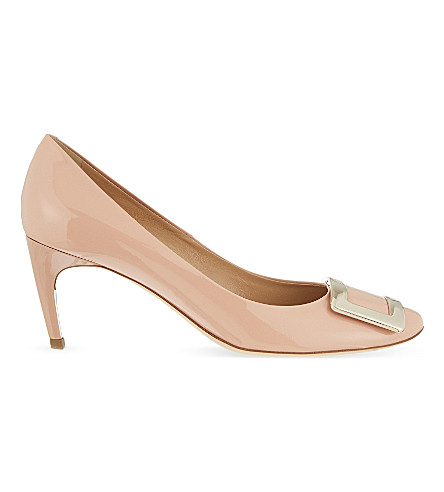 ROGER VIVIER Belle De Nuit t65 patent-leather courts (Nude