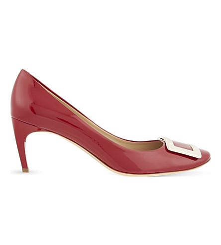 ROGER VIVIER Belle de Nuit leather court shoes (Red