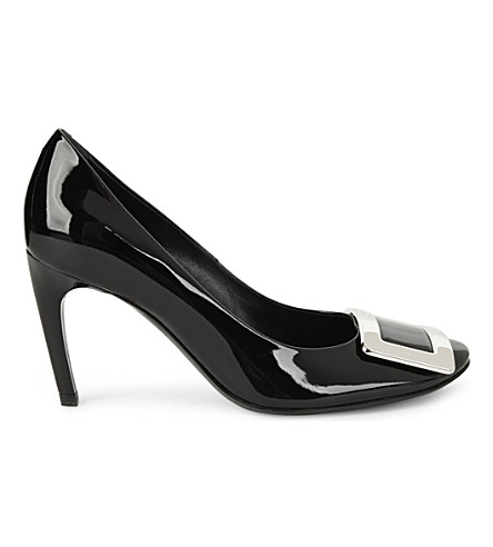 ROGER VIVIER Belle de Nuit T85 patent-leather courts (Black