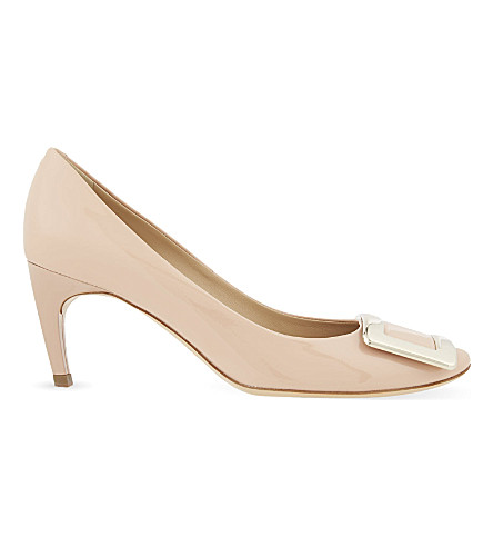 ROGER VIVIER Belle de Nuit patent-leather courts (Nude