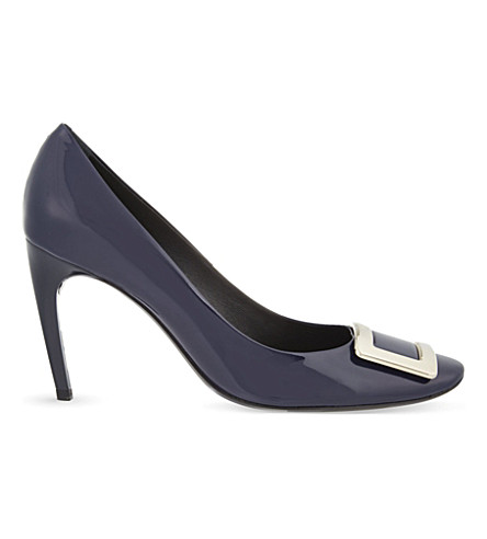 ROGER VIVIER Belle de Nuit T85 patent-leather courts (Navy