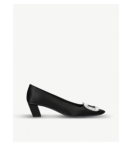 ROGER VIVIER Belle Vivier silk-satin courts (Black
