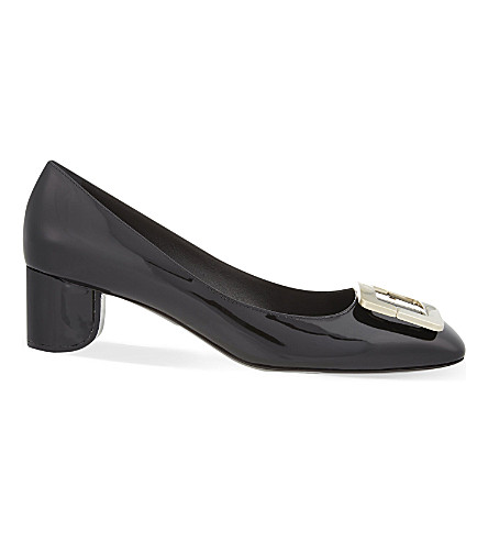 ROGER VIVIER Decollete T45 patent leather courts (Black