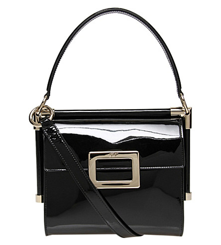 ROGER VIVIER Miss Viv Mini patent shoulder bag (Black