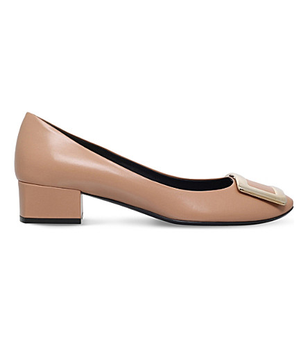 ROGER VIVIER Belle de Nuit leather courts (Beige