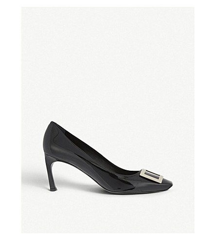 ROGER VIVIER Belle Vivier patent leather courts (Black