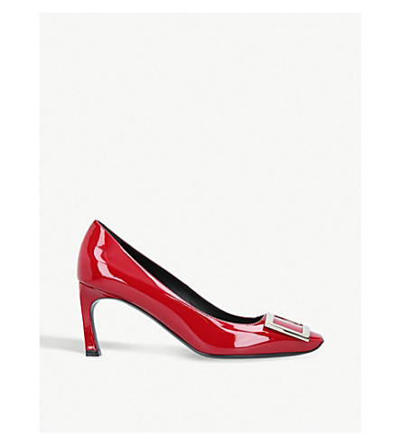 ROGER VIVIER Belle Vivier patent leather courts (Red